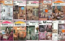 OOP Simplicity Sewing Pattern Home Décor for Rooms You Pick