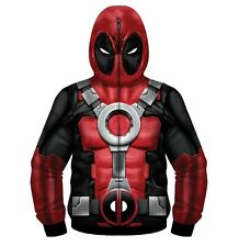Adult Marvel Deadpool Painted Pool Sublimated Costume Fleece Full Zip Jacket