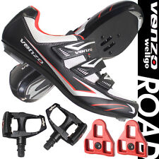 Venzo Road Bike For Shimano SPD SL Look Cycling Bicycle Shoes & Pedals Black