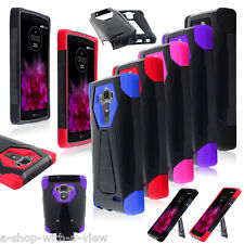 For LG G4 Hybrid Dual Layer Heavy Duty Shockproof Rugged Hard Case Cover Stand