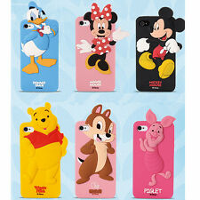 New Disney Cartoons Soft Silicone 3D Phone Cover Case For Apple & Sumsang Galaxy