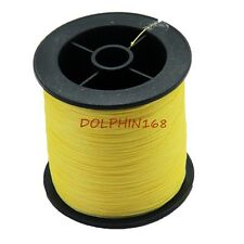 NEW 200M STRONG 6LB-100LB PE DYNEEMA 4BRAID SPECTRA SEA FISHING LINE YELLOW
