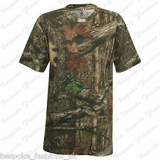 Men's Boy's Summer Short Sleeve Leaves Camouflage Print T-Shirt Top Sizes S-XL