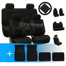 Flat Cloth Car Seat Covers with Carpet Floor Mats and Accessories