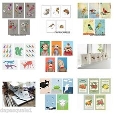 """IKEA KORT - Art Cards Prints Pack of 5 Pieces Assorted Models 4 """" x 6 """" NEW"""
