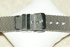 Stainless Steel Shark Mesh Chainmail Watch Strap 18-20-22-24mm  Bars + Tool