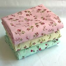 Vintage Small Floral Rose Fabric 100% Cotton Poplin.