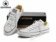 Women Casual Sport Converse ALL Star Shoes Classic White Low Tops Flat Sneakers