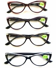 Women's Two Tone Cat Eye Plastic Frame Reading Glasses Eyeglasses 1.00-3.00