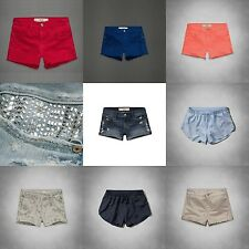 new ABERCROMBIE & FITCH WOMEN short SHORTS NWT denim DESTROYED embellished SPORT