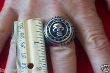 """Large"" Stainless Steel Skull Ring -Men's"