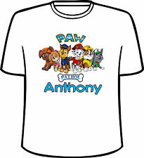 Many Tee Colors-Personalized Paw Patrol T-Shirt