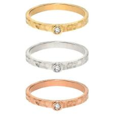 Hammered Engagement Wedding Band Ring In 14k Real Gold  0.05 CT Diamond G-H VS2