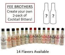 CUSTOM 2-PACK - Fee Brothers 5oz Cocktail Bitters - Mixology Drink Flavor Mixing