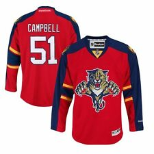 Brian Campbell #51 REEBOK Florida Panthers Premier Hockey Red Home Jersey Men's