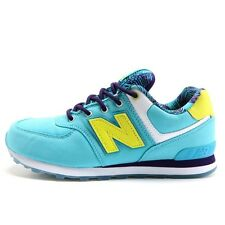 Youth / Womens New Balance 574 Classic Sneakers New, Ice Blue / Yellow KL574I4G