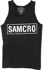 AUTHENTIC SONS OF ANARCHY 100% COTTON SAMCRO  MEN'S TANK SHIRT BLACK