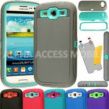 Heavy Duty Hybrid Hard Shockproof Durable Case Cover For Samsung Galaxy S3 i9300