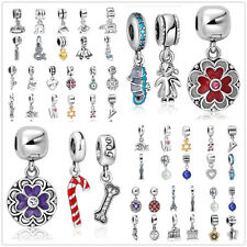European Silver Charms pendant Bead Fit 925 sterling Necklace Bracelet Chain AU7