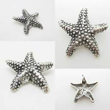 Beach Starfish 925 Sterling Silver Charm Pendant w Spacer Chain or Bracelet