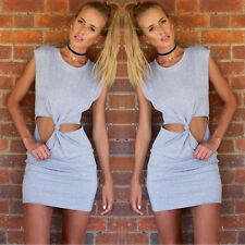Sexy Women Lady Summer Sleeveless Casual Evening Party Cocktail Short Mini Dress