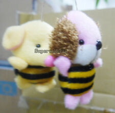 1Pcs Bear Dog Plush Toy Mobile Pendant Pig Plush Doll Stuffed Mini Hanging Chain