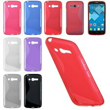 S-Line Soft TPU Gel Rubber Case Cover for Alcatel One Touch POP C1 C3 C7 C9 S3