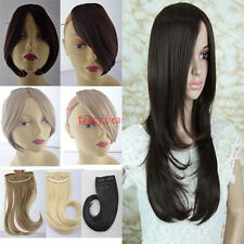 "9"" Long Natural Hair Extension Clip In on Front Bang Fringe women lady selection"