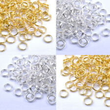 Hot! Gold & Silver Plated Metal Jump Double Split JUMP RINGS! 4/5/6/8/10/12/14MM
