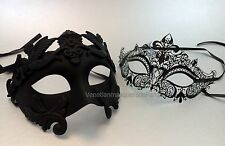 Couple Roman Masquerade mask pair for couple Mardi Gras engagement wedding party