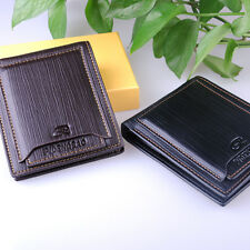 Men leather ID credit Card holder Clutch Bifold money purse Wallet Pockets HS166