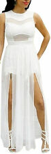 New Fashion Lady's Sexy Knit Long Dress Sleeveless Evening Party Soiree Drees