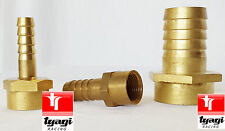 Female BRASS BSP Thread Hose Tail Fitting Silicon Fuel Water Air Gas Pipe UK