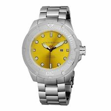 NEW ANDROID MEN'S DIVEMASTER 200 STAINLESS STEEL GREEN OR YELLOW DIAL
