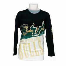 Men's USF Bulls 3/4 Length Sleeve Graphic T-Shirt (Black and White)