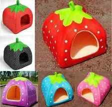 Strawberry Pet Dog Cat Bed House Kennel Doggy Warm Cushion Basket ONE HS66