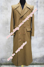 Doctor Purchase Who Cosplay Dr Costume Trench Coat Wool Brown Halloween Mature