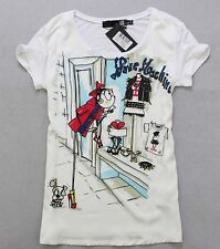Love Lady's 56422 shopping girl printed short sleeves Moschino Top Size S/M/L