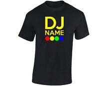"""DJ """"Your Name"""" Britains Talent Personalised Mens Funny T-Shirt (12 Colours)"""