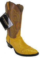 Women's New Ostrich Western Cowgirl Rodeo Biker Boots Snip Toe Yellow SALE