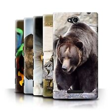 STUFF4 Back Case/Cover/Skin for Sony Xperia C/C2305/Wildlife Animals