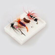 4 Pieces Fishing Tackle Lures Single Hook Fly Feather Insect Drop Shotting New