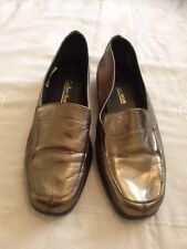 Womens Collection Comfy Shoes In Bronze Gold  Colour Uk Size 6 (39)