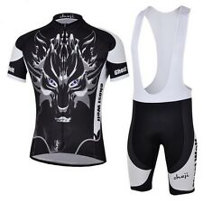 CHEJI Cycling Bike Cycle Sports Jersey Short Sleeve Shirts Clothing (Bib)Shorts