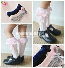 ✿‏Girl Baby Toddler Kids Knee High Cotton Lace Socks from 9 months to 8 years✿‏