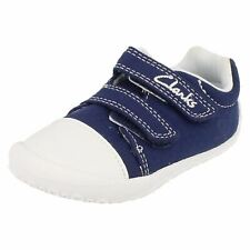 SALE CLARKS DOODLES BOYS LITTLE CHAP CASUAL RIPTAPE CANVAS FIRST SHOES PUMPS
