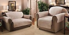 Luxury Quilted Sofa ~ Loveseat ~  Recliner ~ Chair Furniture Pet Protector Cover