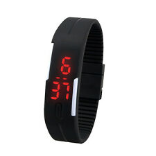 Fashion New Unisex Sport Bracelet Digital Watch Vintage 12Color Rubber Wristband