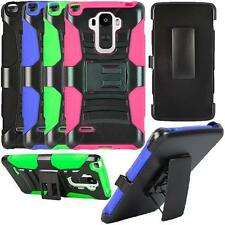 For LG G Stylo LS770 Rugged Case Holster with Belt Clip and Kickstand