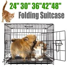 Metal Dog Crates Cages Puppy Pet Carrier Training Cage - Small Medium Large XXL